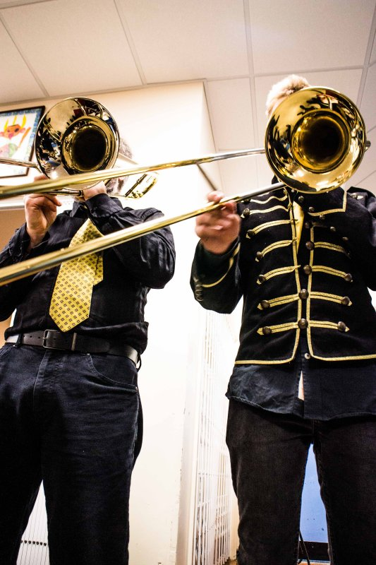 2017 Black and gold trombones